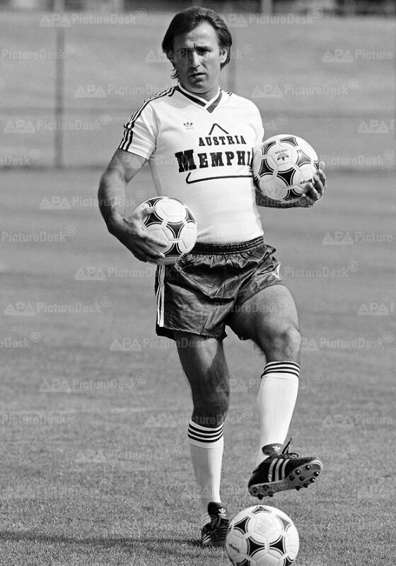 Austria-Trainer Gustl Starek 1988