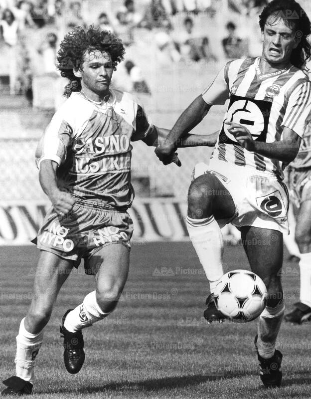 Bundesliga 1988 - Rapid vs Admira Wacker - Peter Artner und Gerald Willfurth