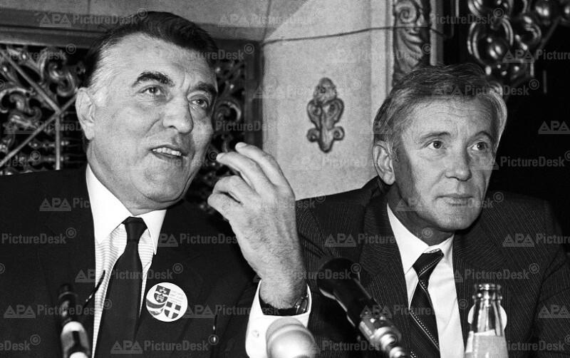 Helmut Zilk und Pal Ivanyi
