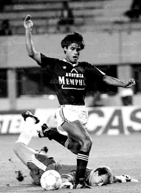 Bundesliga 1988 - Rapid vs. Austria - Jose Percudani und Herbert Feuer