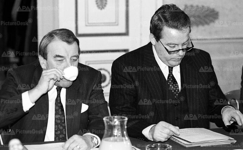 Franz Vranitzky und Robert Lichal