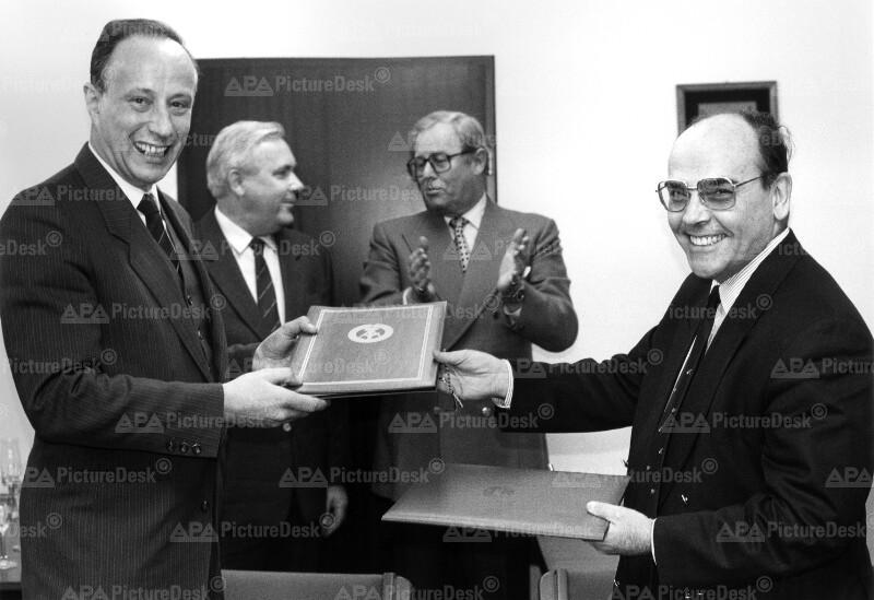 Hans-Jochen Vogel und Erich Kussbach