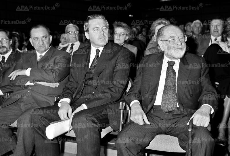 Fred Sinowatz, Bruno Kreisky und Franz Vranitzky