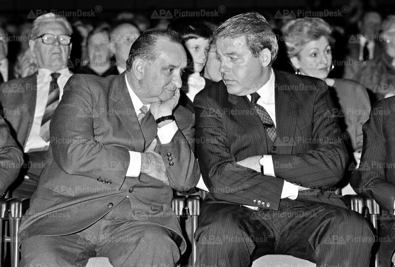 Fred Sinowatz und Franz Vranitzky