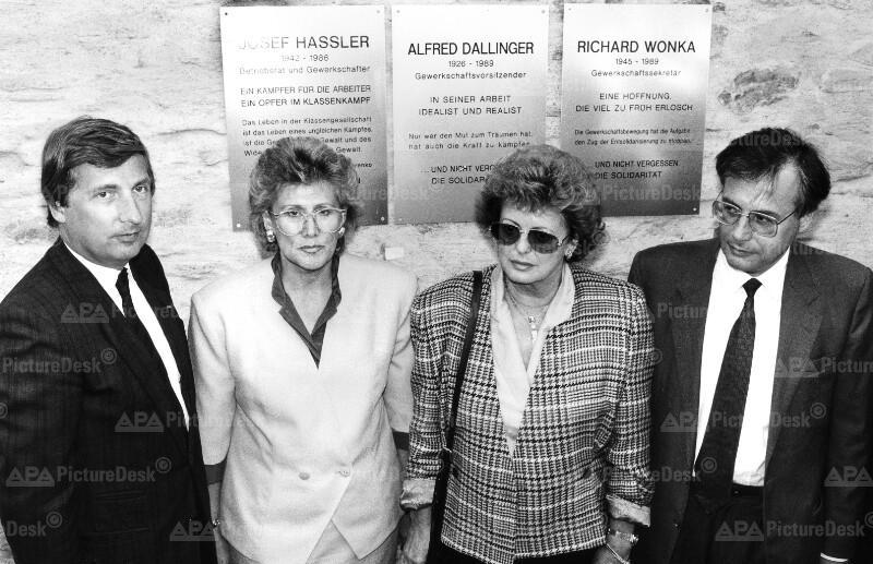 Fritz Verzetnitsch, Christa Krammer, Helga Dallinger und Walter Geppert