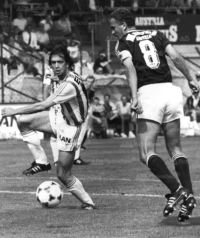 Bundesliga 1989 - Rapid vs. Austria - Gerald Wilfurth und Herbert Prohaska