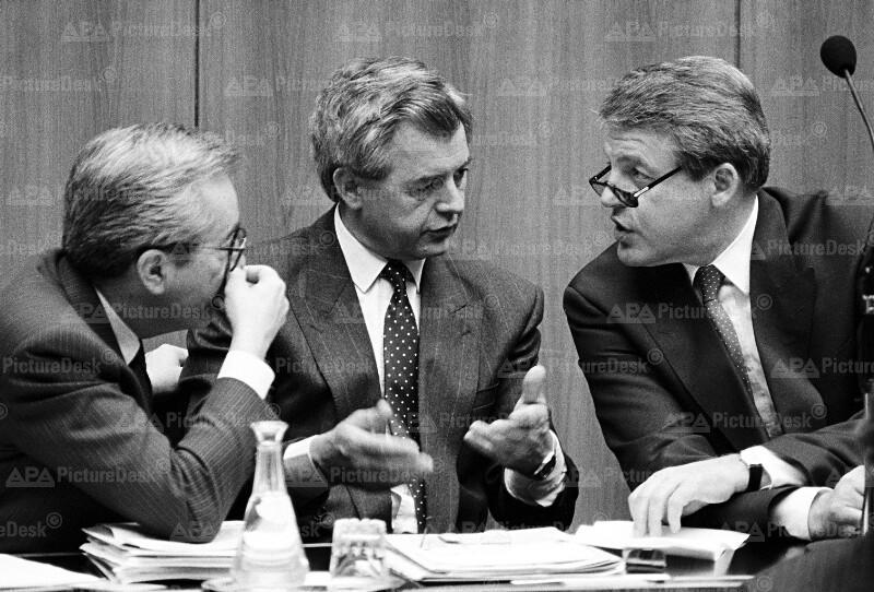 Alois Mock, Josef Riegler und Franz Vranitzky