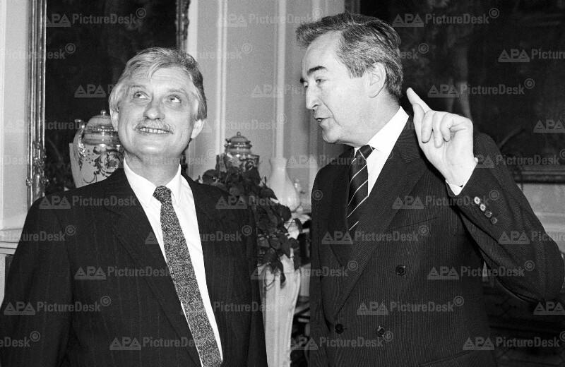 Jiri Dienstbier und Alois Mock