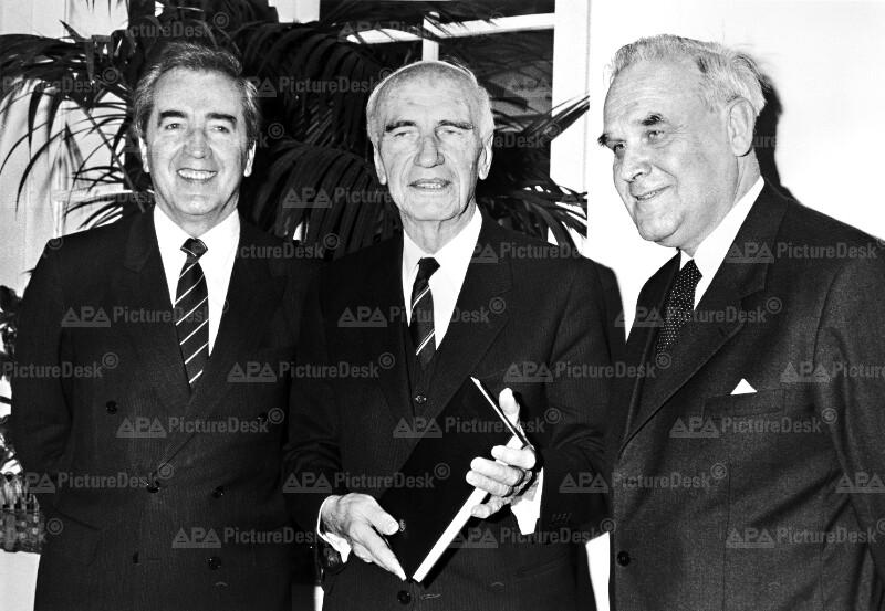 Alois Mock, Rudolf Kirchschläger und Herbert Schambeck