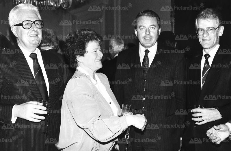 Hans-Jochen Vogel, Gro Harlem Brundtland, Franz Vranitzky und Ingvar Carlsson