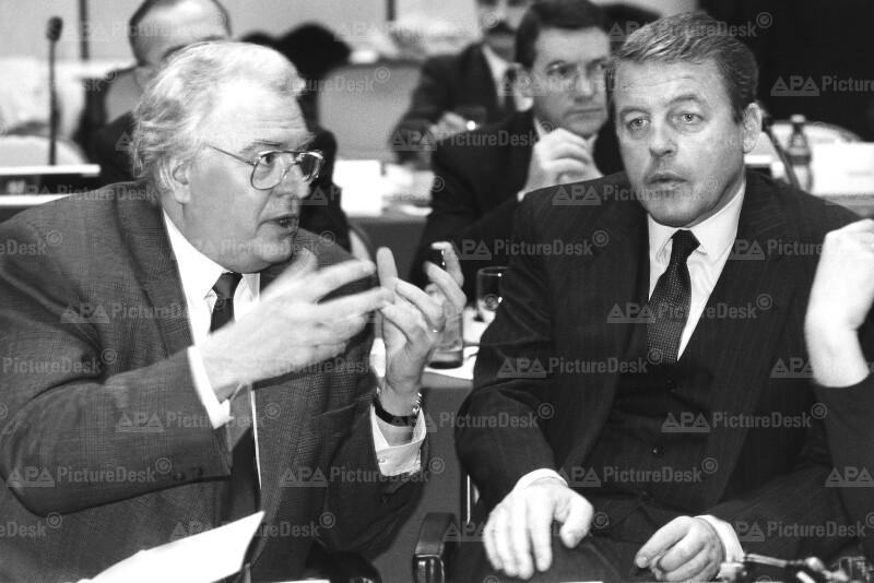 Franz Vranitzky und Pierre Mauroy
