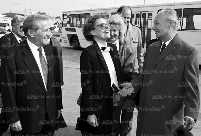 Alexander Dubcek 1990 in Wien