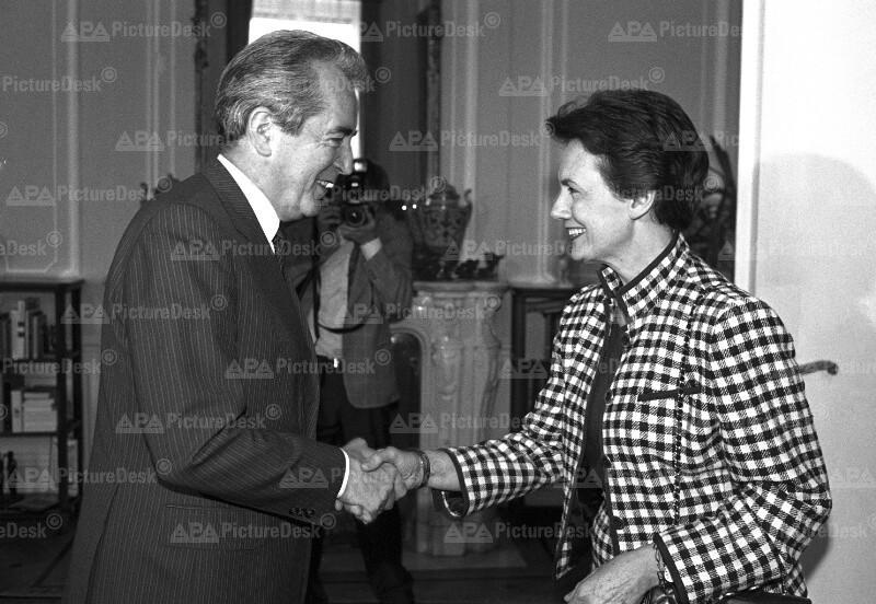 Alois Mock und Catherine Lalumiere