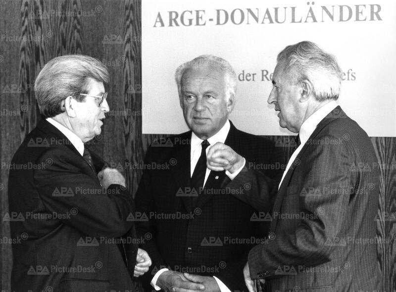 ARGE-Donauländer-Treffen - Siegfried Ludwig, Josef Ratzenböck und Alfred Dick
