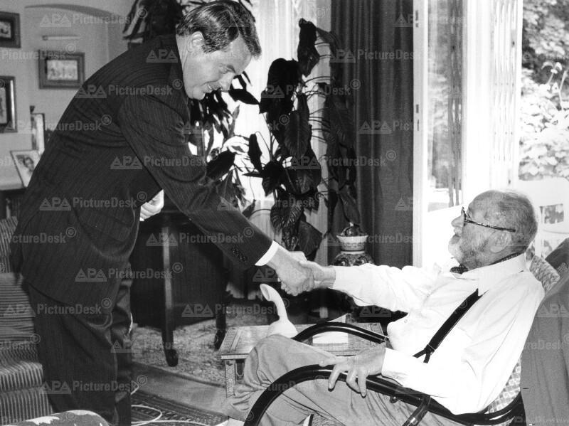 Franz Vranitzky und Bruno Kreisky