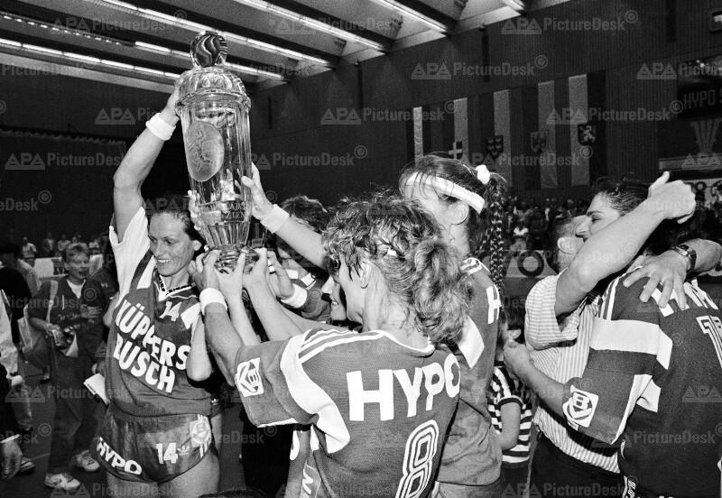 Handball Europacup 1990 - Sieg von Hypo-Südstadt