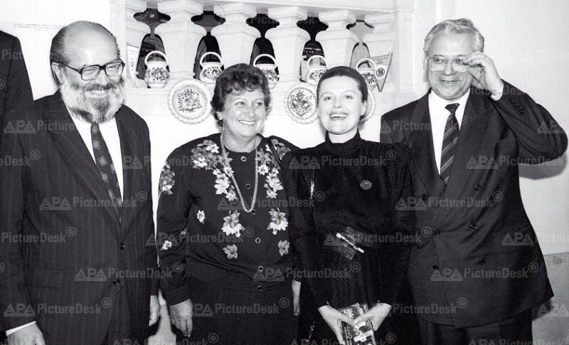Kornel Földveri, Hilde Hawlicek, Magda Vasaryova und Erhard Busek