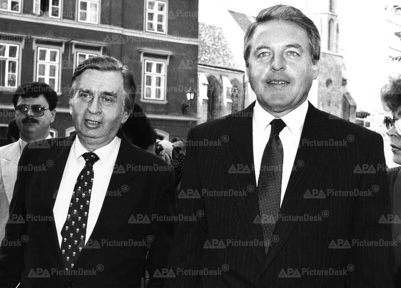 Franz Vranitzky und Jozsef Anstall