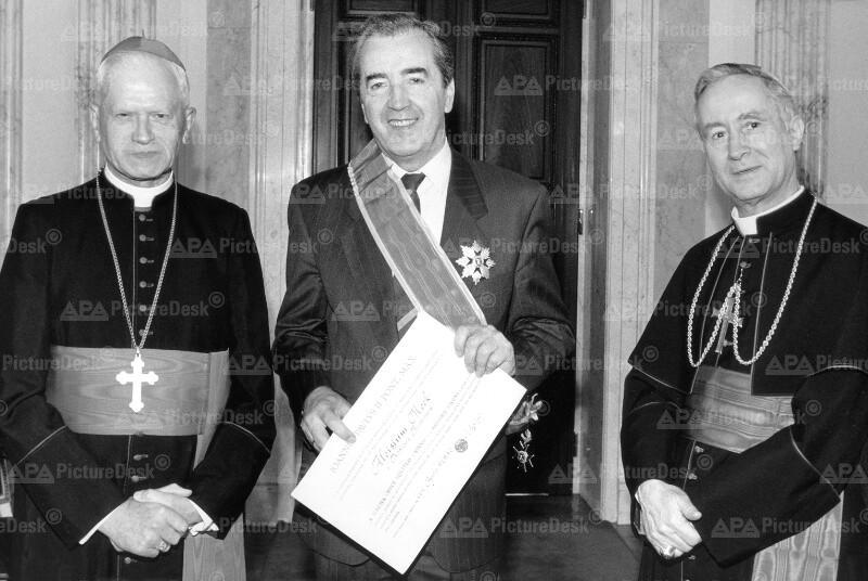 Hans Hermann Groer, Alois Mock und Donato Squicciarini