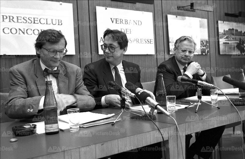 Wolfgang Schüssel, Ferdinand Lacina und Erhard Busek