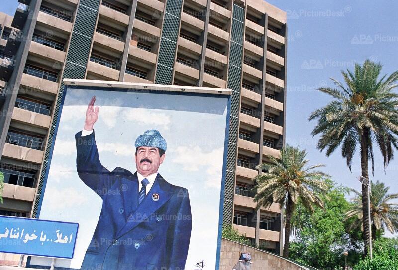 Bild von Saddam Hussein in Bagdad