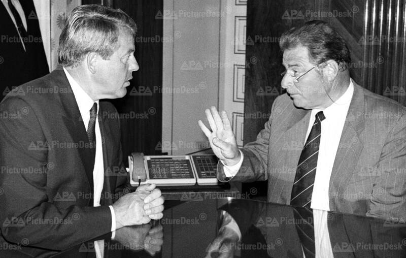 Franz Vranitzky und Jean Paul Delamuraz