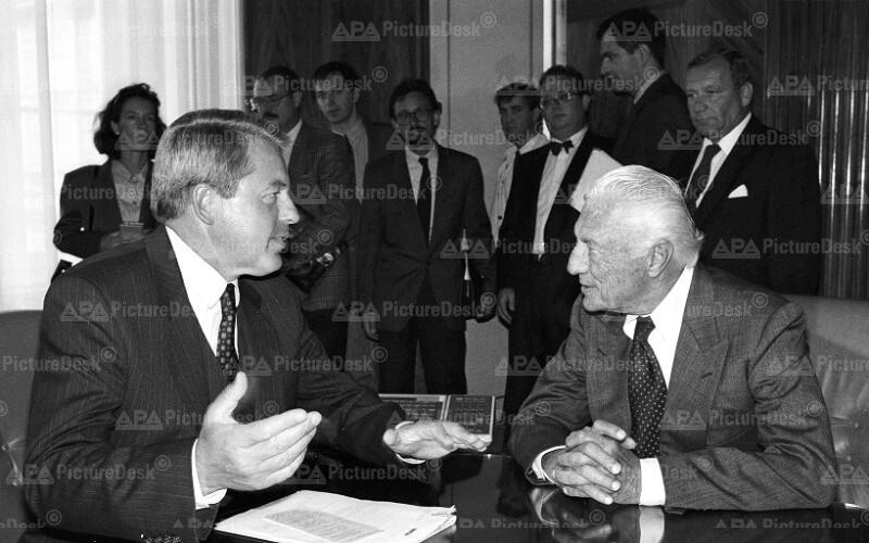 Franz Vranitzky und Gianni Agnelli