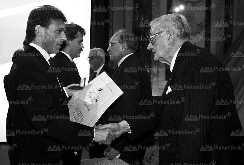 35-Jahr-Jubiläum der FPÖ - Jörg Haider und Wilfried Gredler