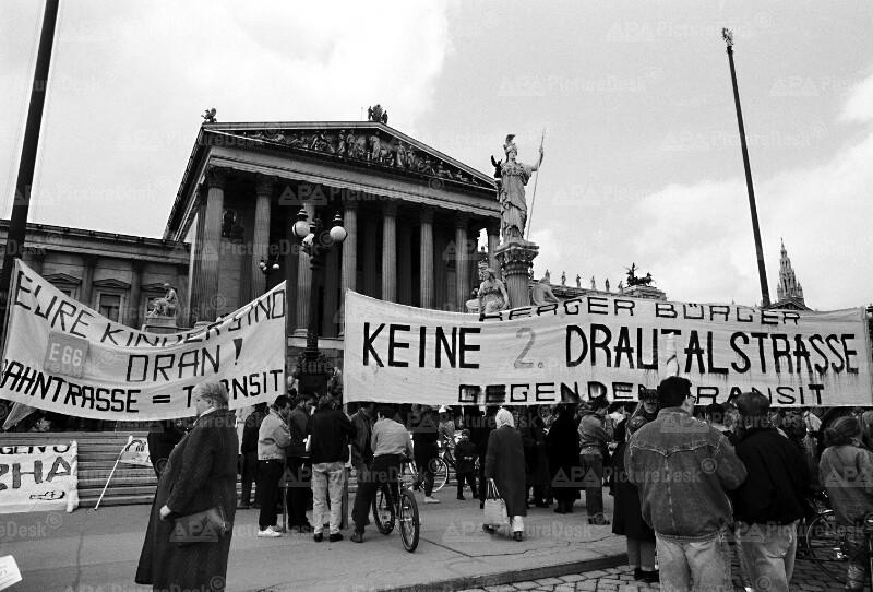 Anti-Transit-Demonstration in Wien