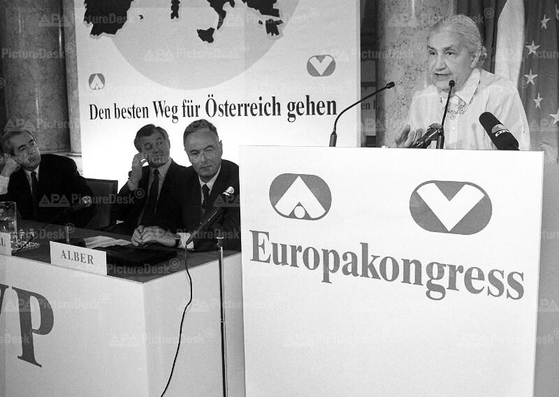 Europakongress der ÖVP - Mock, Riegler, Alber und Hersch