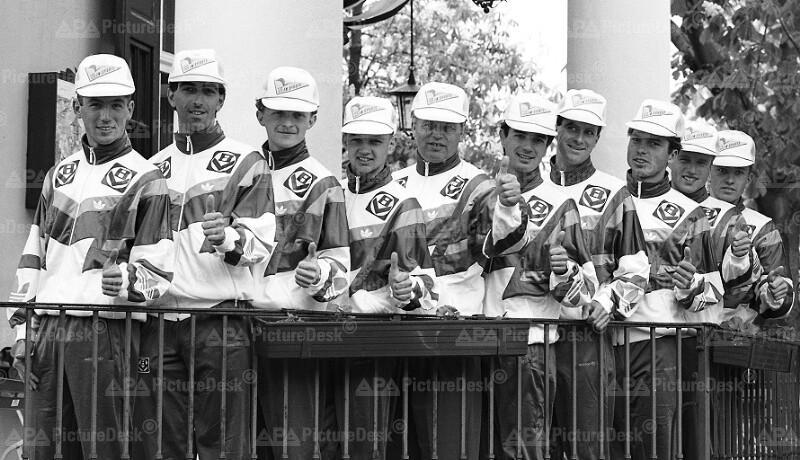 Österreich-Radrundfahrt 1991 - Der neunköpfige Teamkader