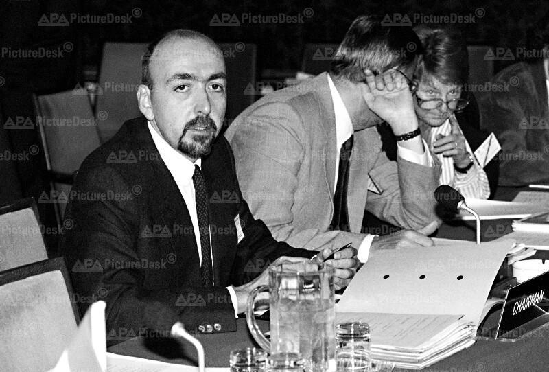 EFTA-Konferenz 1991 - Heinz Zourek, Olof Johansson und Erika Steinacker