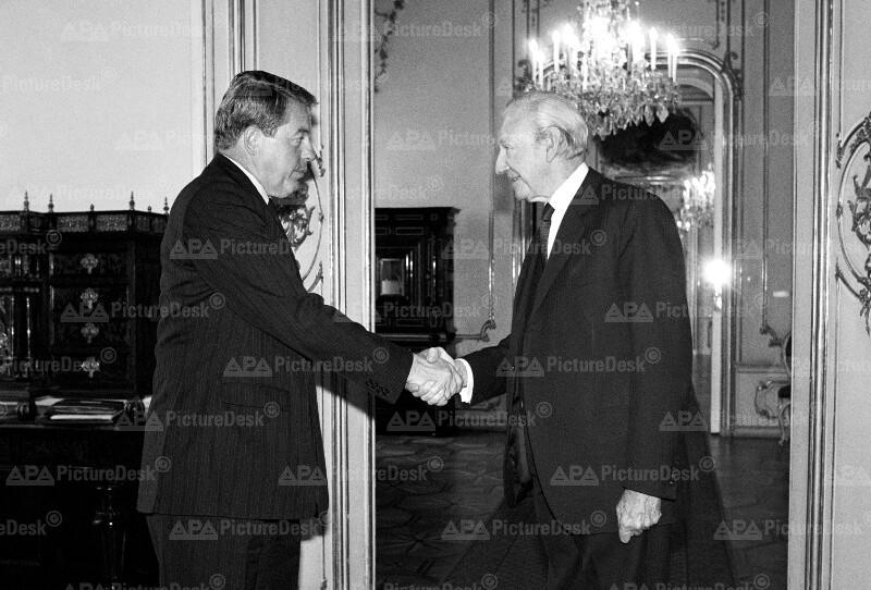 Franz Vranitzky und Kurt Waldheim