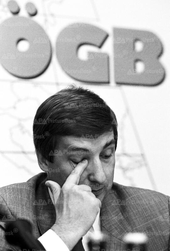ÖGB-Pressekonferenz - Fritz Verzetnitsch