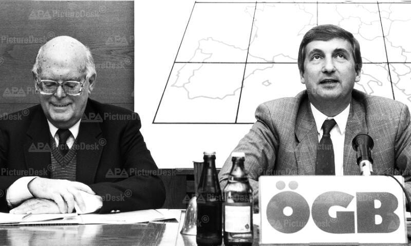 ÖGB-Pressekonferenz - Fritz Verzetnitsch und Rudolf Sommer