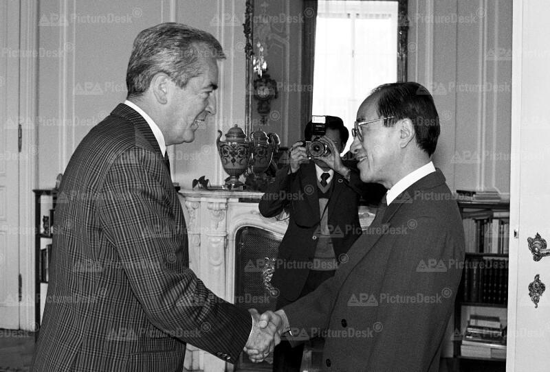 Alois Mock und Zhu Liang