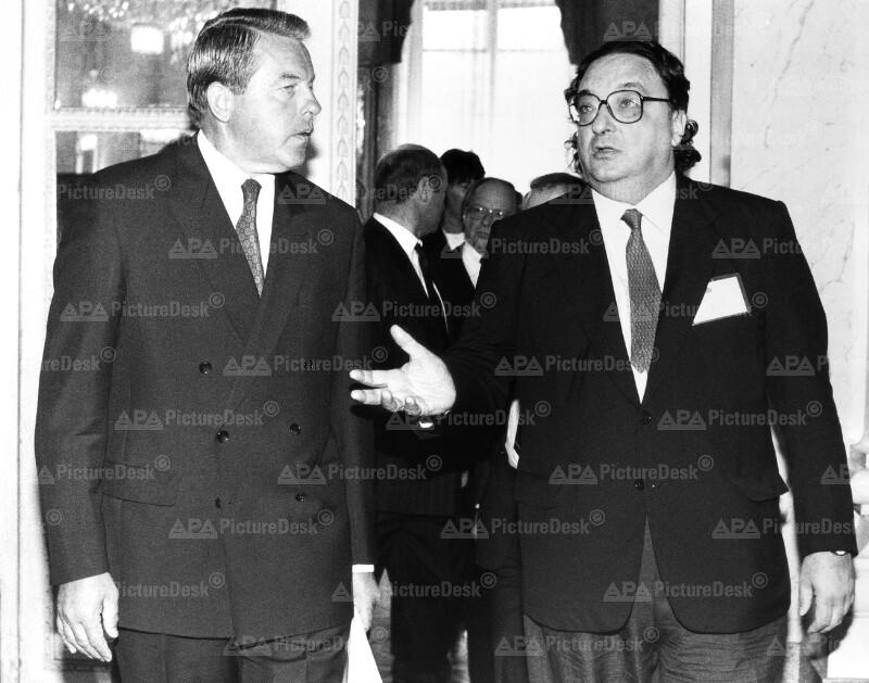 Franz Vranitzky und Gianni de Michelis