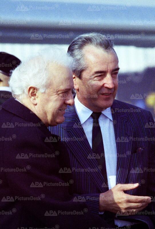 Eduard Schewardnadse und Alois Mock