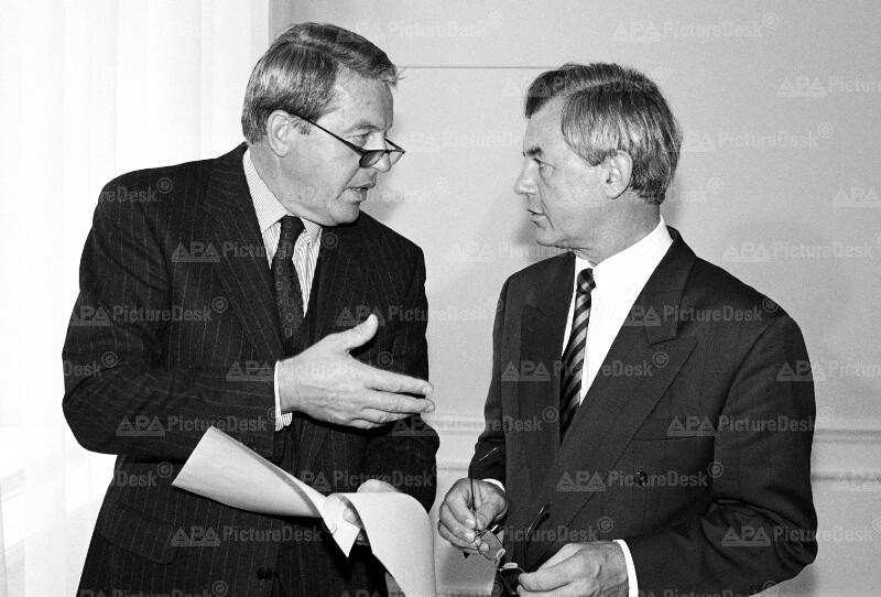 Franz Vranitzky und Josef Riegler