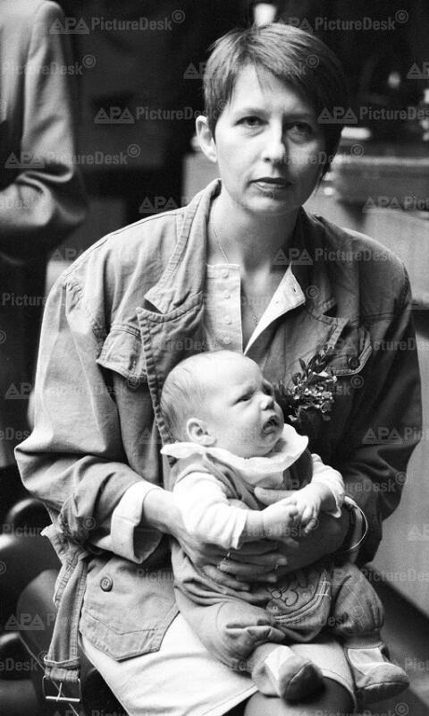 Christine Heindl mit ihrem Sohn Michael