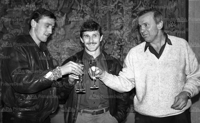 Waldas Iwanauskas, Arminas Narberkowas und Ben Zelkiavicu