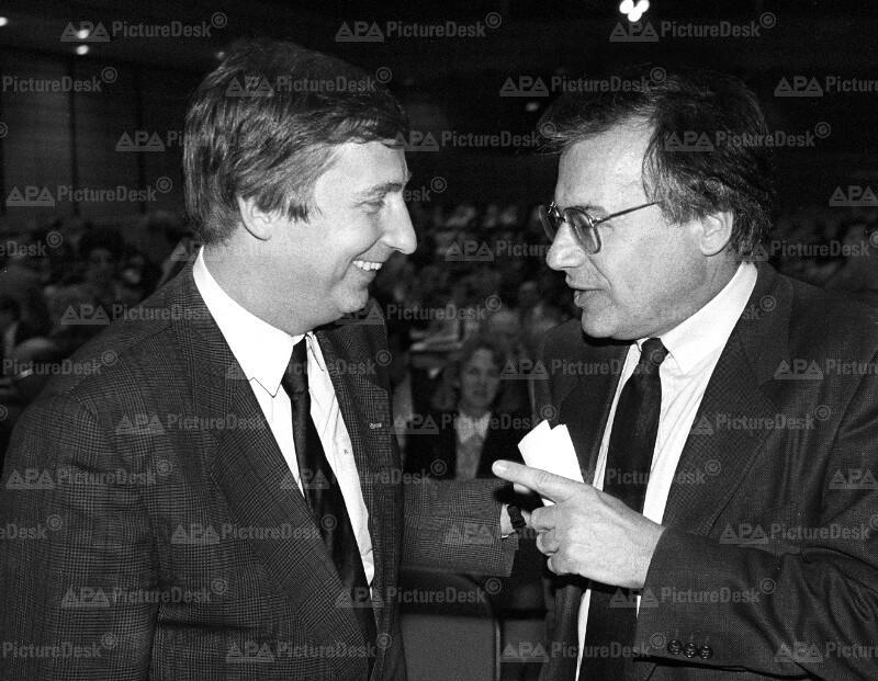 Walter Geppert und Fritz Verzetnitsch