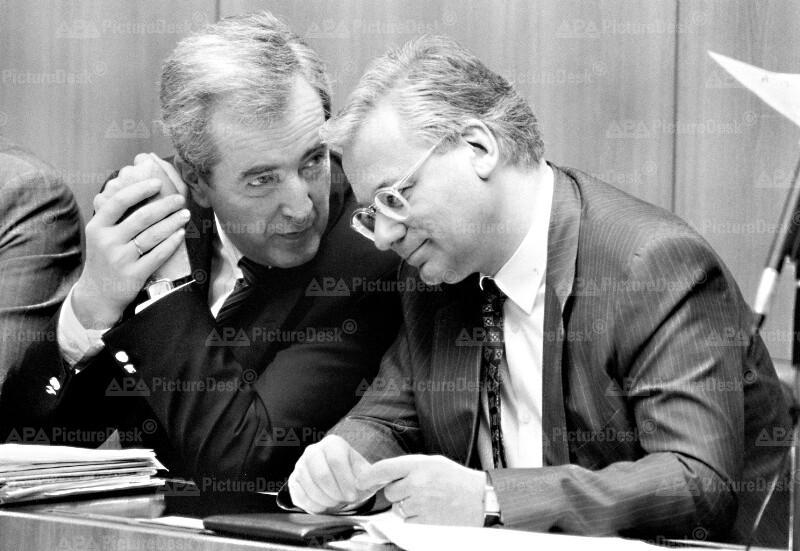Alois Mock und Erhard Busek