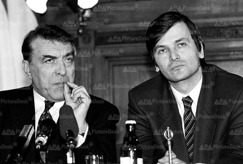 Helmut Zilk und Gabor Demszky