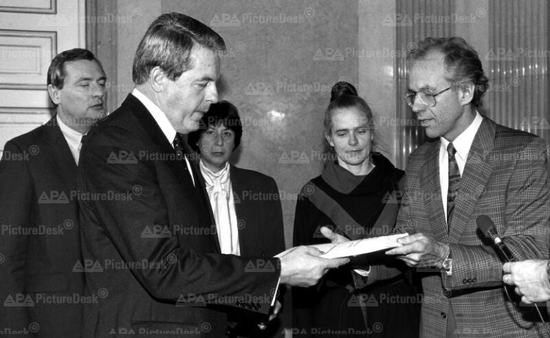 Bohunice-Kommission  - Franz Vranitzky und Manfred Heindler