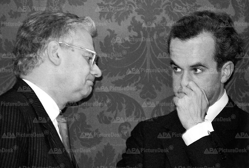 Erhard Busek und Rudolf Scholten
