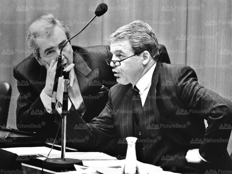 Alois Mock und Franz Vranitzky