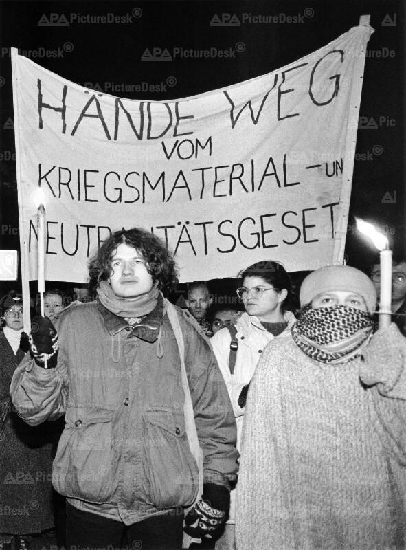 Demonstration gegen Golfkrieg