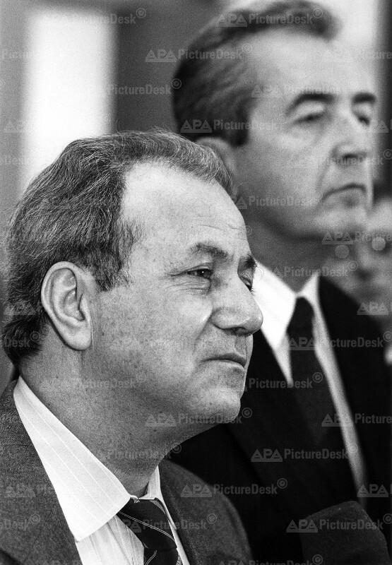 Faruk Kaddumi und Alois Mock