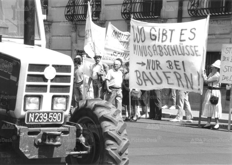 Demonstration der freiheitlichen Bauern in Wien